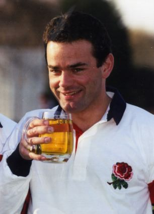 Former England captain Will Carling enjoys a drink during his time leading the line. New research suggests it wouldn't affect his game