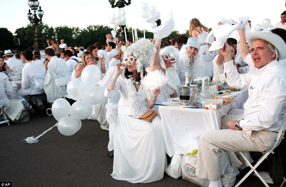 All white: The revellers must all dress in the shade