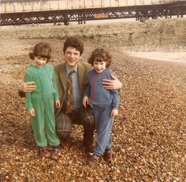 Saviours: Christy Campbell with his his daughters Maria (left) and Katy on Brighton beach