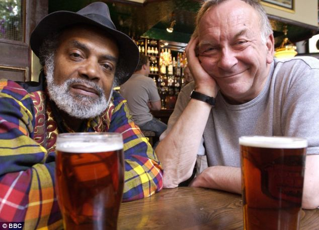 Here, Sam Kelly, right, is playing George in Do Nothing Till You Hear From Me alongside Ram John Holder, left
