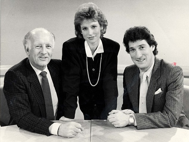 Early days: Frank Bough, Sally Magnusson and Jeremy Paxman present Breakfast Time in 1986
