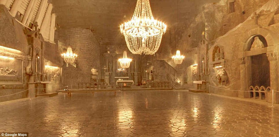Back in time: The arresting Wieliczka Salt Mine in Poland dates back to the 13th century