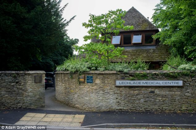 Turned away: Lechlade Medical Centre, St. Lawrence Rd, Lechlade allegedly turned away Larry Smith after he had sliced his arm to the bone with a chainsaw