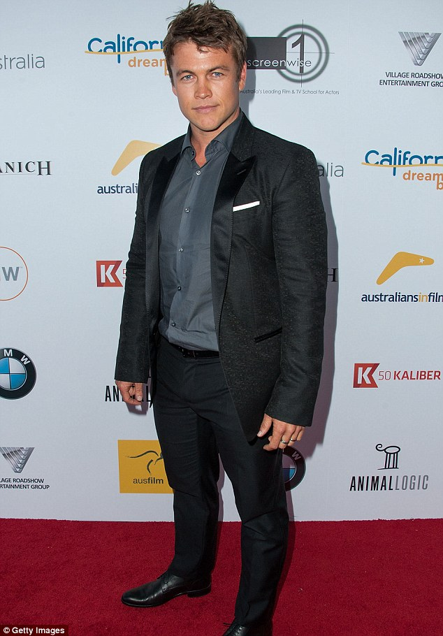 Hollywood makeover?: Luke Hemsworth looked decidedly different at the Heath Ledger Scholarship celebration in LA on Thursday night