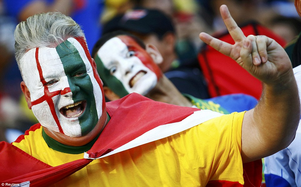 Will they be humbled in the jungle? One fan came to the stadium with his face painted ready to support both sides - perhaps he wanted to hedge his bets