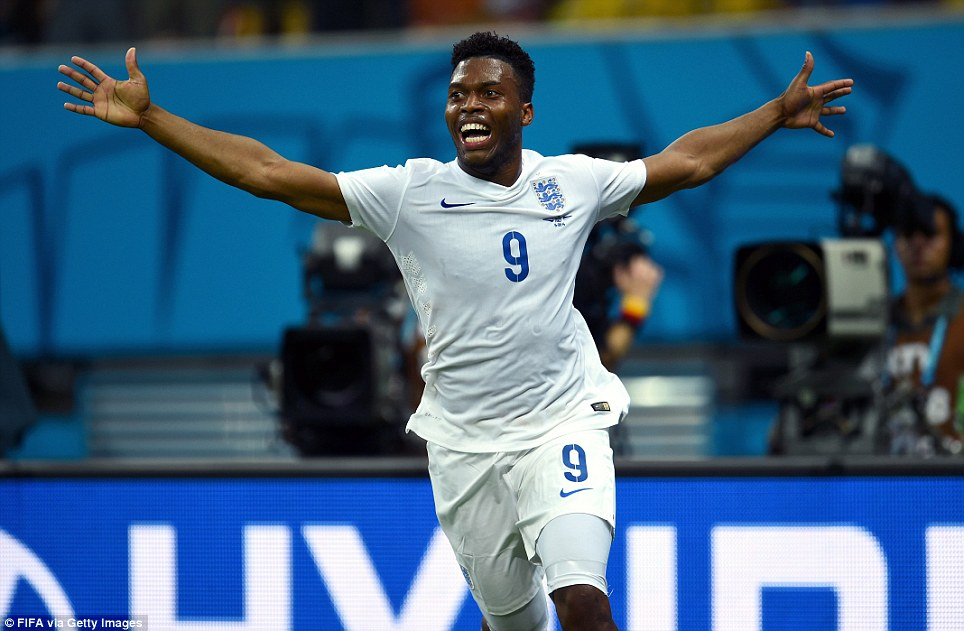 Unbridled joy: The eyes of the world were on 24-year-old Sturridge, who danced with joy and circled the pitch in five minutes of tense excitement in the first half