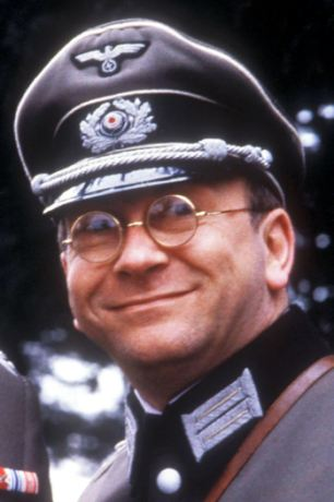 Sam Kelly, right, played Captain Hans Geering in the 1980s BBC comedy 'Allo 'Allo alongside Richard Marner, left, who died in March 2004