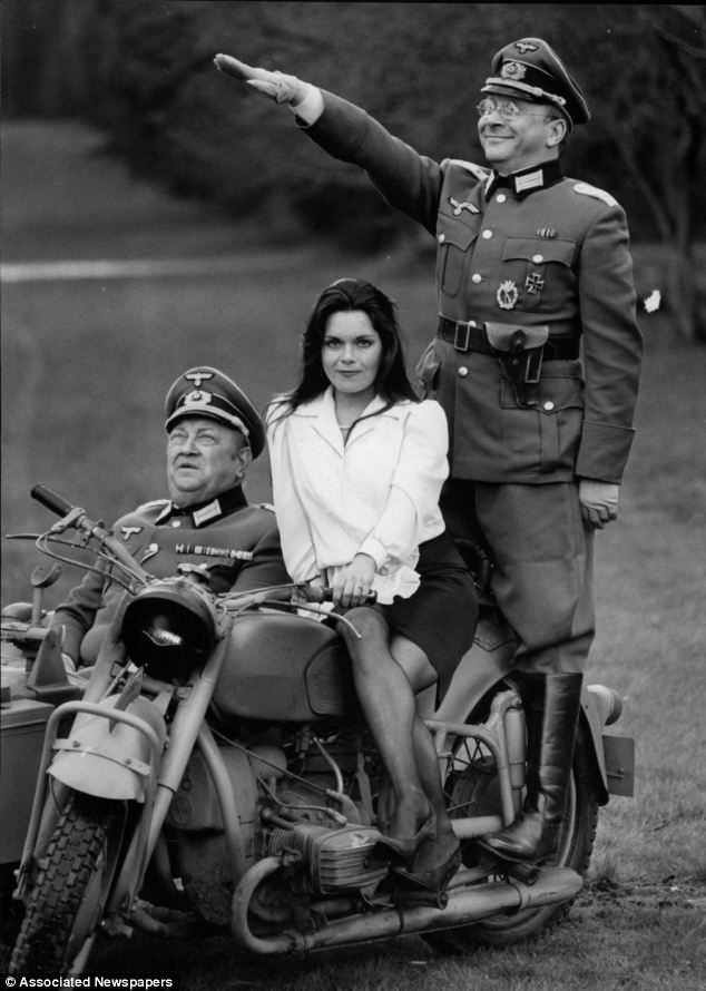 Kelly, right, starred in 'Allo 'Allo alongside Richard Marner, left and Francesca Gonshaw, centre