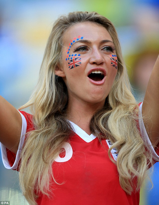 Support: One of the thousands of England fans who made their way to Manaus to watch the team
