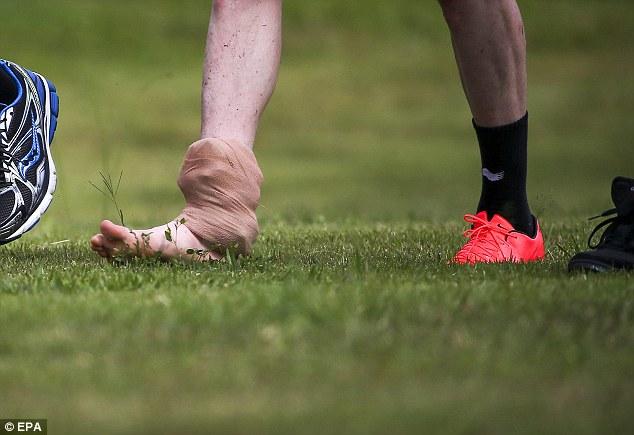 Walking wounded: Intense training has left Kevin De Bruyne nursing an injury