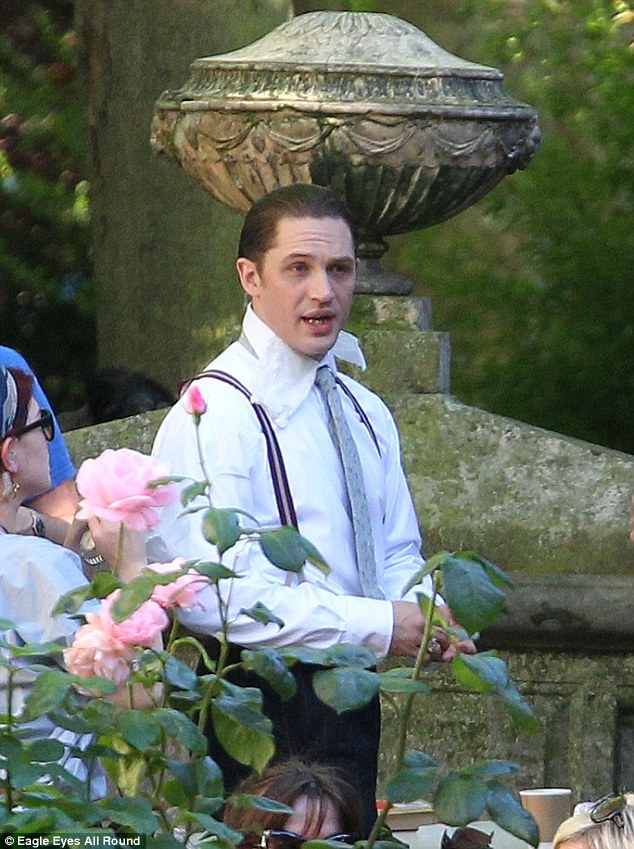 I do: Tom Hardy plays Ron and Reggie Kray on the set of Legend. Here, Reg marries Frances Shea at St.Anne's church