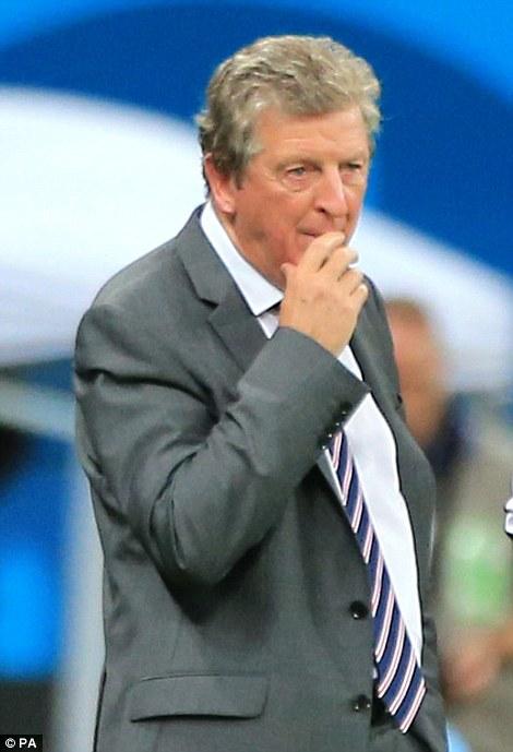 England manager Roy Hodgson on the touchline