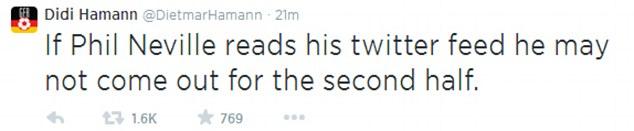 Advice: Didi Hamann offers Phil Neville some advice