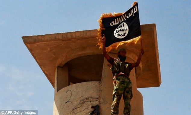 Takeover: ISIS militants have set up their black flag above towns and cities across the north and west of Iraq