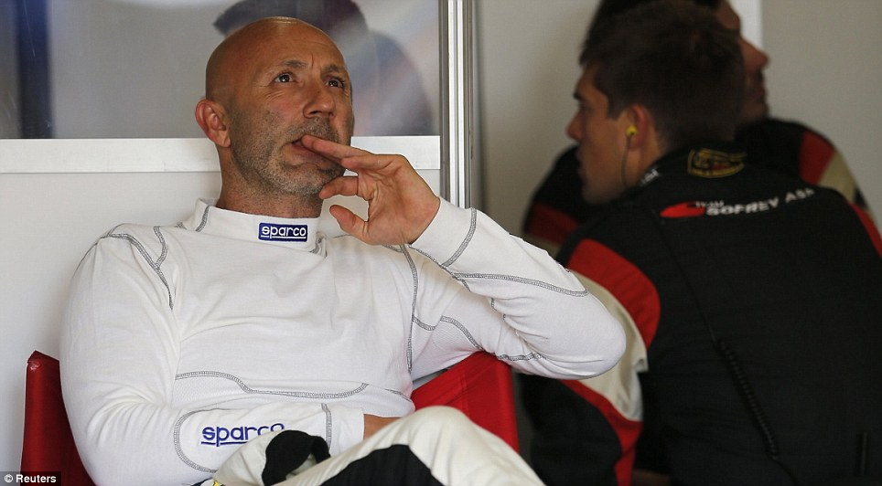 Fast Franchman: Former Manchester United goalkeeper Fabien Barthez has been taking part in the Le Mans 24-hour race throughout the weekend