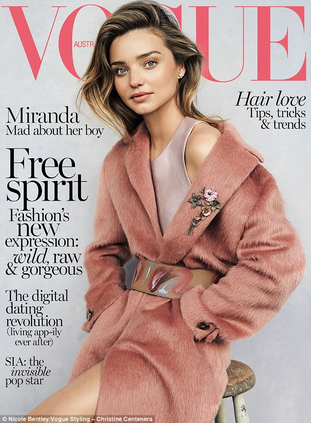 Model family: Flynn got his modelling debut in this month's Vogue issue as he posed with mum Miranda Kerr