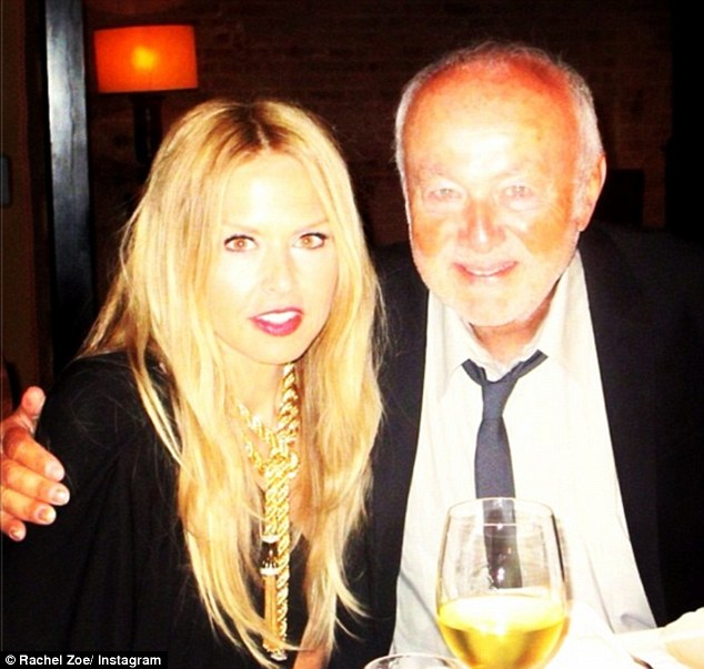 'Happy Fathers Day to my hero!' Rachel Zoe declared herself an 'eternal Daddy's girl' as she sent her father Ron Rosenzweig some love with this post