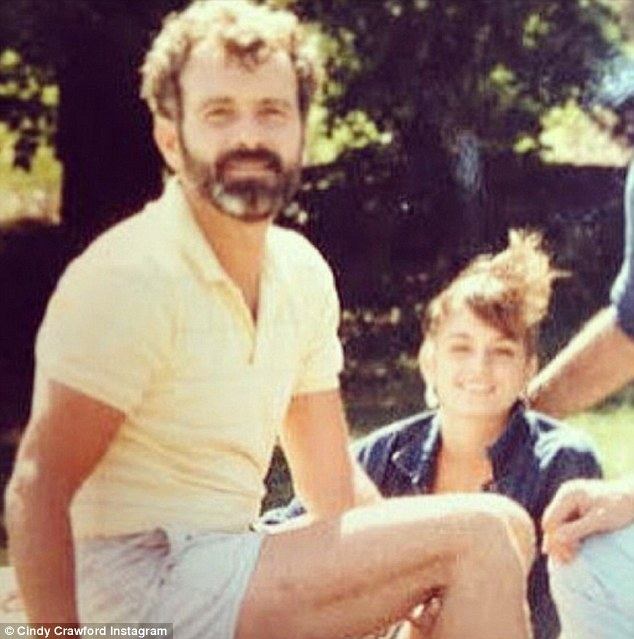 'Happy Father's Day to my Dad!' Cindy Crawford paid homage to the man partially responsible for her supermodel genes, John Crawford, on Sunday with this throwback photo to their younger days