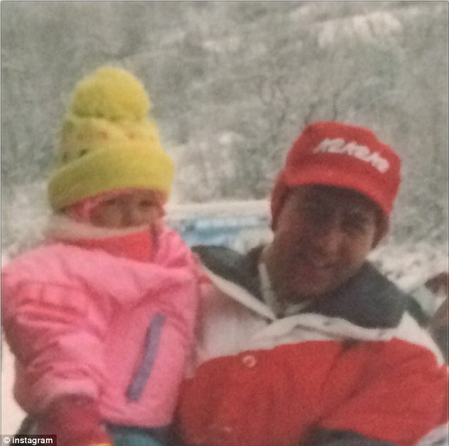 'I'm so blessed to have my Pappa!' Julianne Hough shared this Instagram tribute to her father featuring the two of them at the snow when she was a little girl