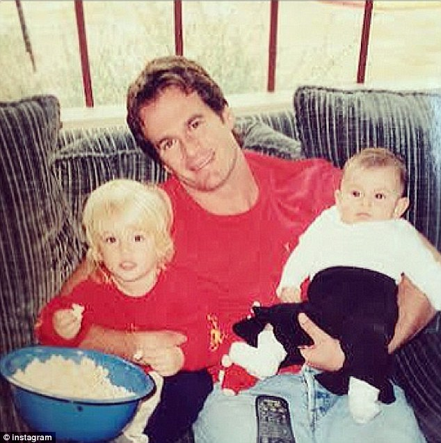 'The best daddy ever!' Cindy was also sure to send love to her husband Rande Gerber, with whom she has two children - Presley, 14, and Kaia, 12