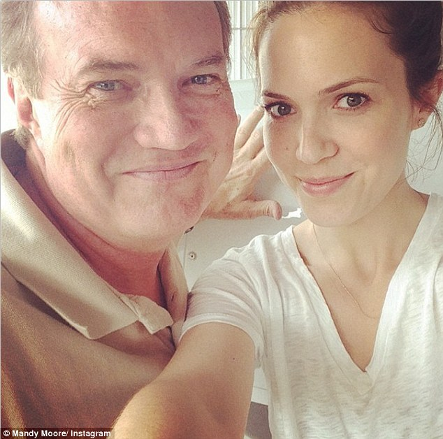'Happy Father's Day to all the dads out there, especially my pops, Captain Don': Mandy Moore delivered a loving message to her dad on Sunday with this sweet selfie