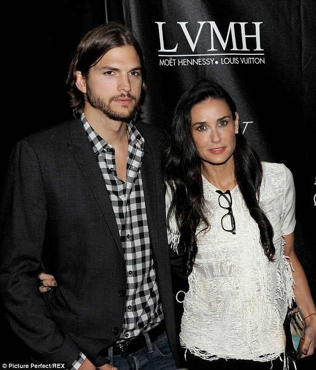 Not meant to be: Demi split from husband Ashton Kutcher in 2011 after eight years of marriage, pictured in June 2011 in NYC