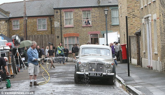 Lifelike: The exterior set is made over to look like a 1960s London street