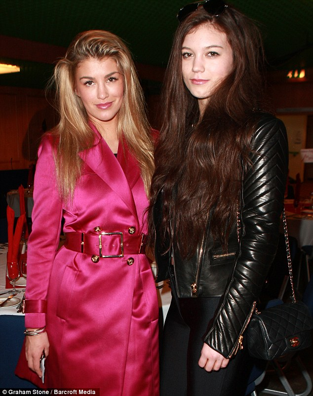 Good company: The I'm A Celeb star posed with her sister Erin at the event