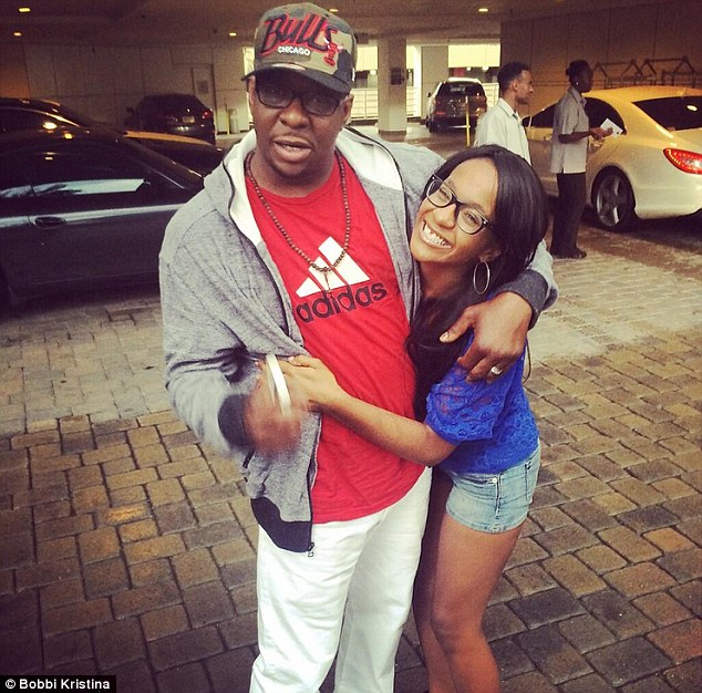 A reunion: Bobby Brown was seen hugging estranged daughter Bobbi Kristina Brown on Sunday - Father's Day - in the parking lot of a restaurant, which the 21-year-old daughter of Whitney Houston tweeted about