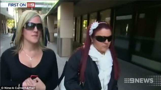 Sarah Louise Roan, 21, (right) and Lauren Jackson, 22, (left) avoided their original six-month jail sentences for throwing bleach at a toddler at Kellyville Ridge last year
