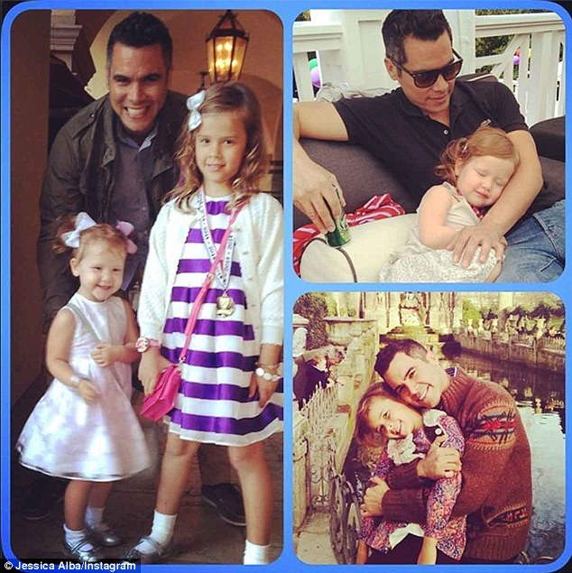 MIA: Not seen with Alba Thursday was her husband, Emmy-nominated producer Cash Warren, and their daughters - Honor, 6, and Haven, 3