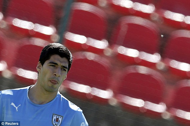 Ready to go: Suarez returned to Uruguay training and is confident that he can play against England