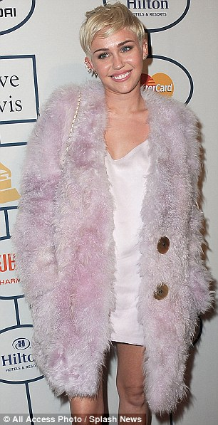 Court action: Miley Cyrus, pictured in February, has obtained a restraining order against an obsessed fan