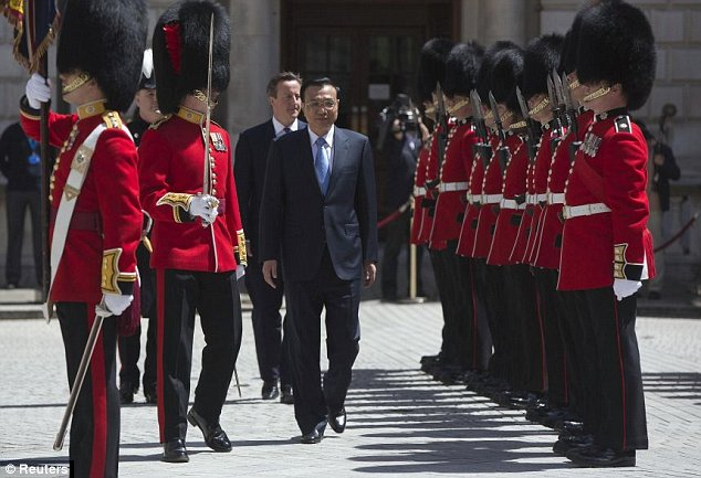 Mr Li has been honoured with much more pomp and ceremony than is normally laid on for a visiting prime minister