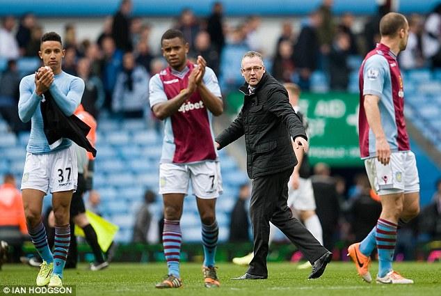 Struggles: Paul Lambert is under pressure to revive Aston Villa