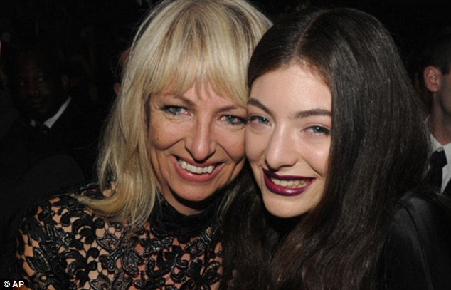 Plenty to smile about! Lorde's mum and dad got engaged on Monday, after 30 years together (pictured: Lorde with her mum Sonja at the Grammys this year)