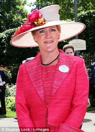 Sighting: TV presenter Clare Balding, pictured today at Ascot, was shocked to see what appeared to be a panther-like animal in the Herefordshire countryside during a radio interview