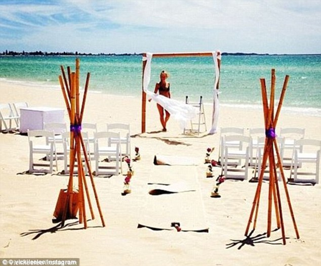 Ring riddle: The couple sparked wedding talk in January when a friend  posted a shot of Lara at an altar in WA