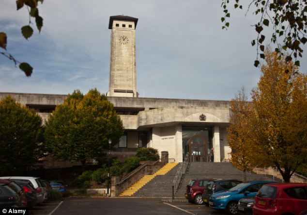 Newport Crown Court (pictured) heard analysis of the onboard computer of Gurung's VW Golf showed he was travelling at a speed of between 69-78mph - with an average of 74mph