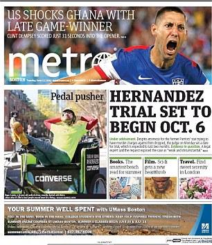 Perfect start: Clint Dempsey's winner helped lead the Boston Metro