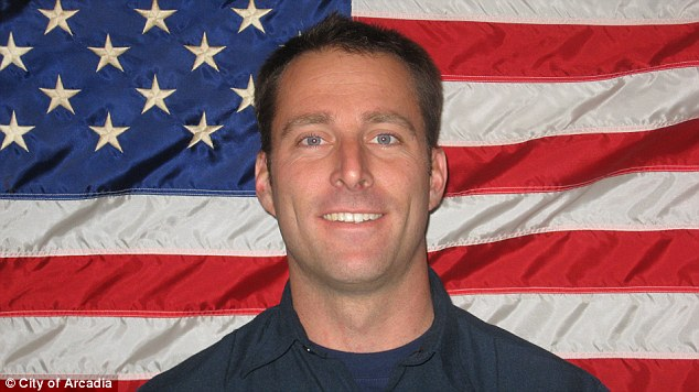 Tragic: Mike Herdman, pictured, was a paramedic with the Arcadia Fire Department whose body was found Friday