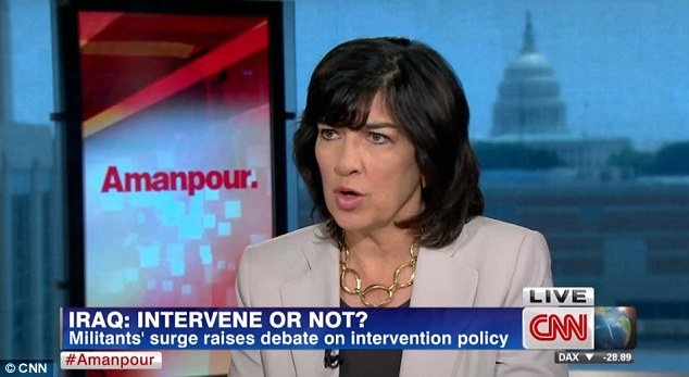 Amanpour pushed back against Faily, arguing that the more 'immediate threat' to Iraq was political inequality enforced by Shiites against Sunnis