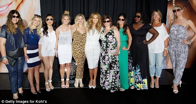 On the VIP list: J-Lo posed with Kohls associates at the show