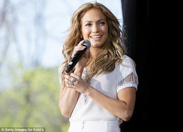 She never stops! Later in the day, J-Lo attended a private fashion show for her Kohl's collection in Wisconsin