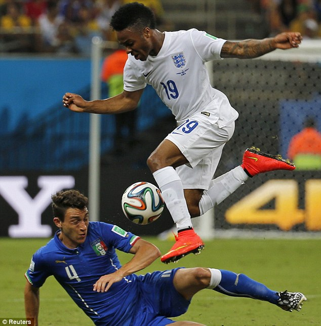 Young gun: Raheem Sterling was one of England's impressive youngsters on the night