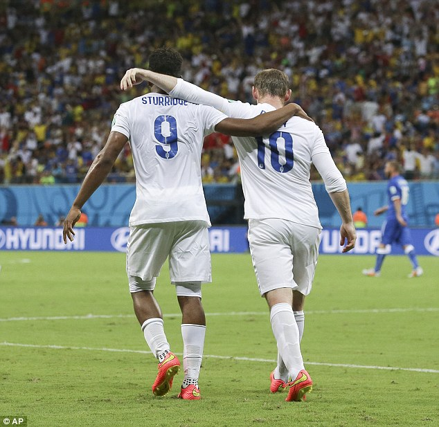 Partners: Many believe that Rooney should be played centrally alongside Sturridge, rather than on the left