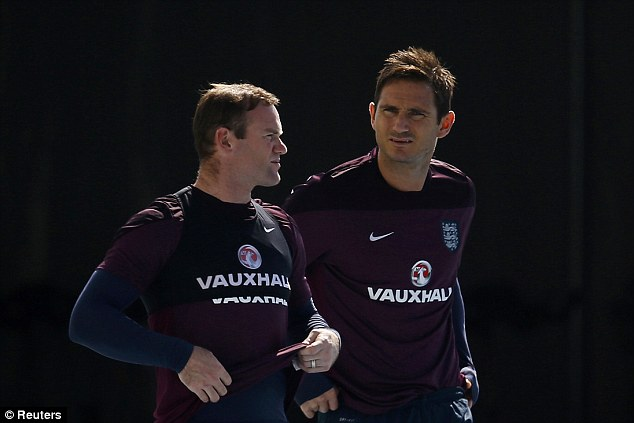 Team-mates: Rooney and Lampard have been England team-mates for over a decade