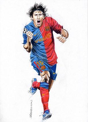 Modern hero: Barcelona's Argentinian star Lionel Messi