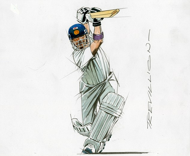 The Little Master by the Master of Movement: Sachin Tendulkar playing an expansive drive