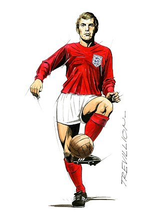 Leading role: Bobby Moore's studied glance as he captains England